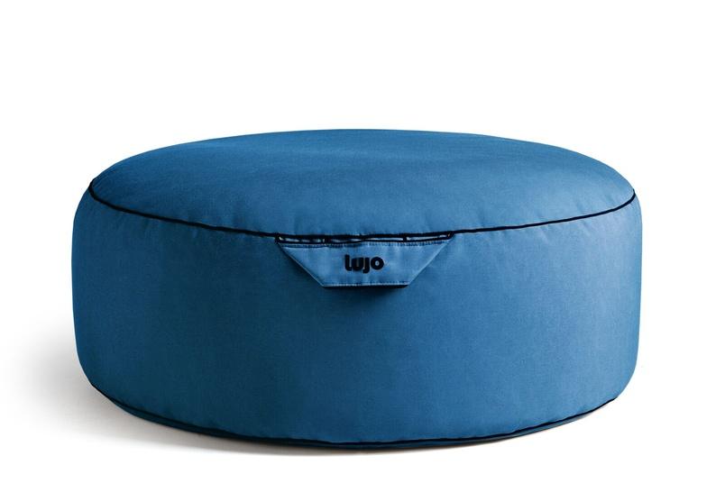 Tulum ottoman (outdoor/med blue).