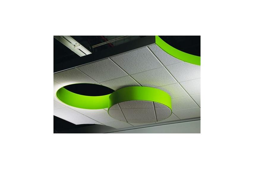 Compässo suspension trim creates free form island ceilings that provide visual impact