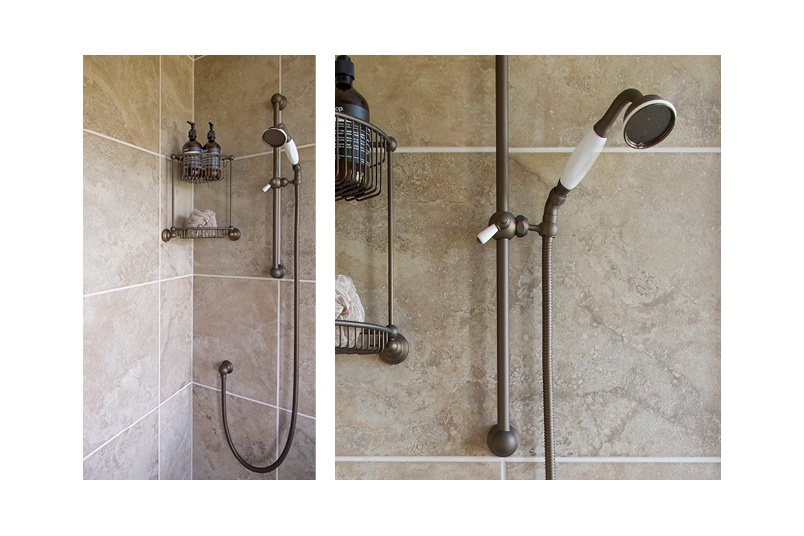 Perrin & Rowe traditional showers, tapware and accessories are available in English bronze