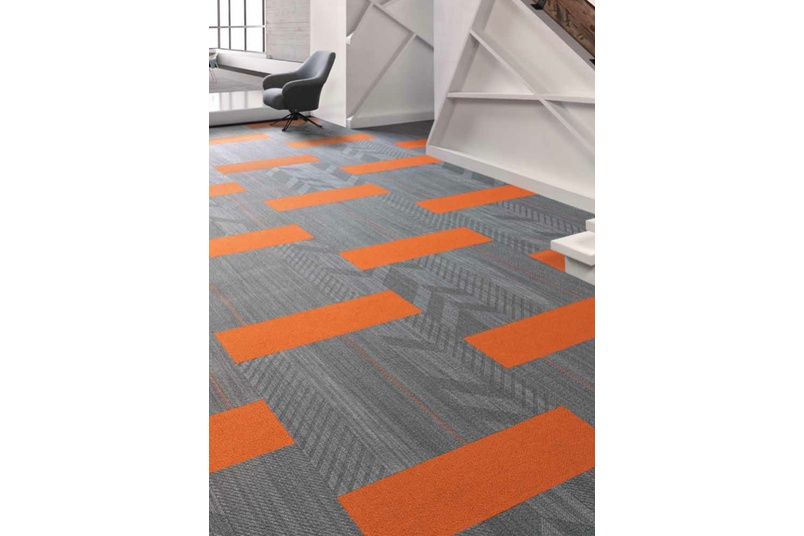Zip It and Hem Plank Tiles Colour 955 Skinny with Color Beat Colour 252 Electric Orange Plank - plank half-lap install method