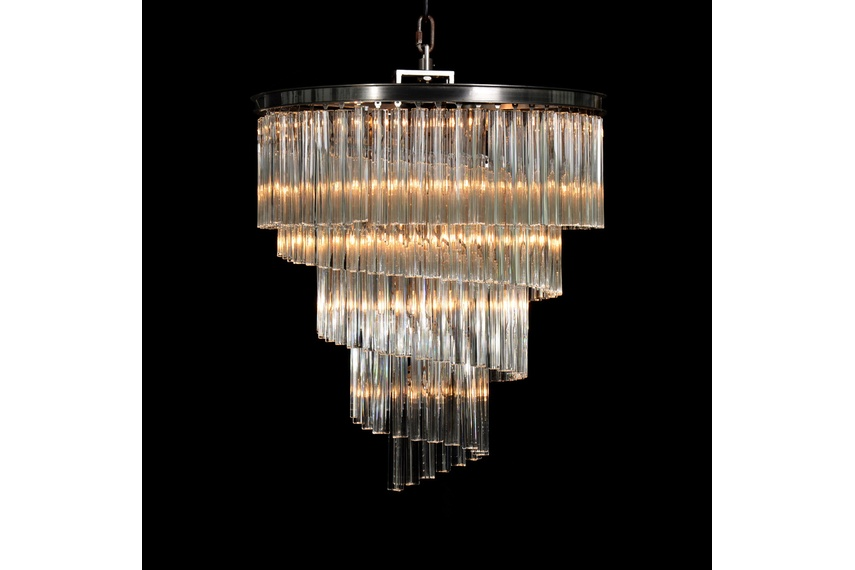 Paradise chandelier brings ancient drama and modern glamour to a room.