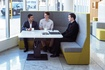 Shift Duo table with Huddle soft seating.