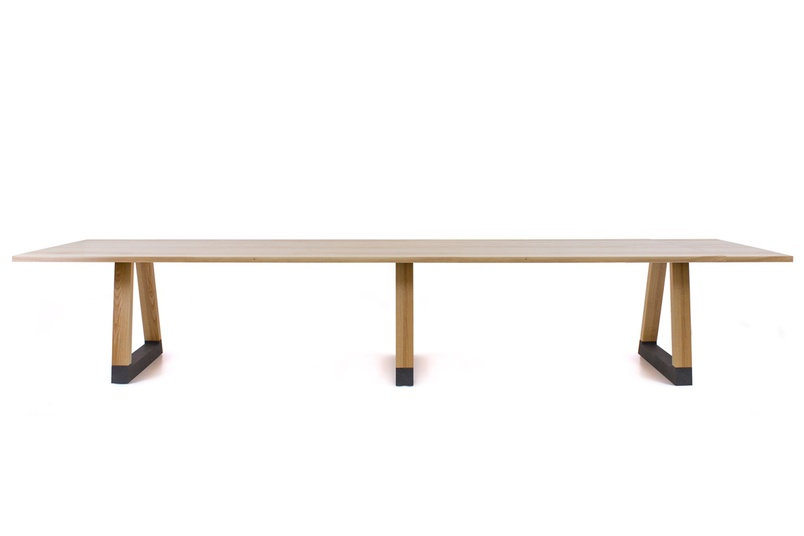 The table can be flat-packed, making installation easy