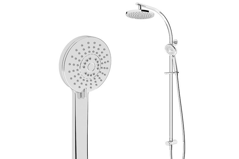 Ovale column shower.