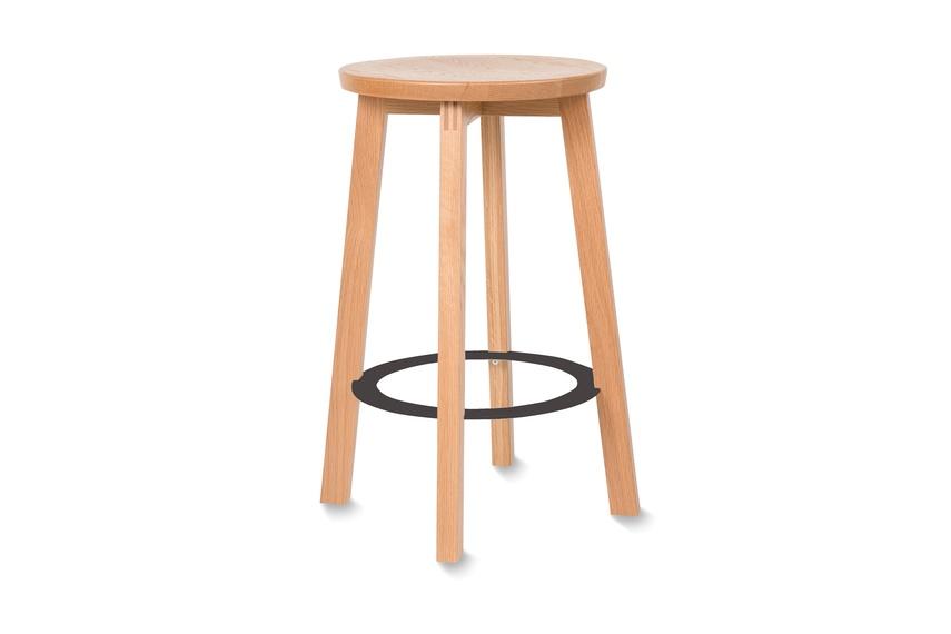 American oak mid stool.