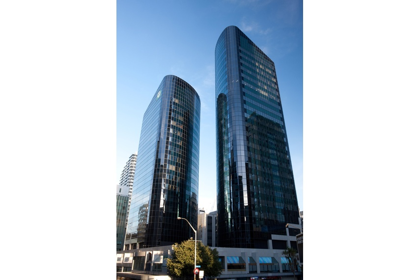 CW 400 high rise curtainwall - National Bank twin towers, Auckland