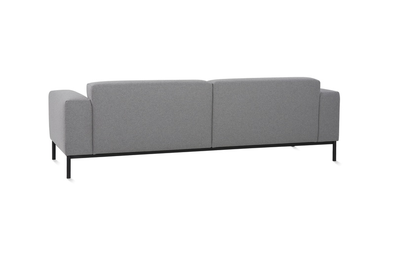 Back view of the Hem sofa.