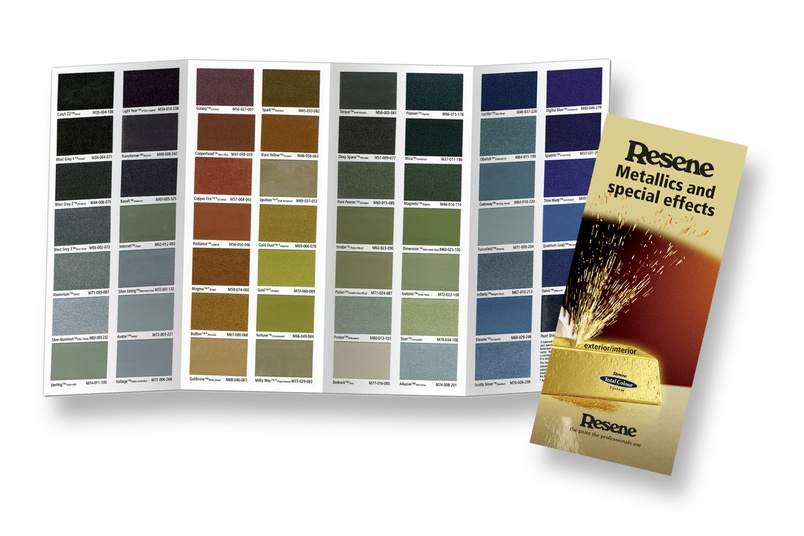 Resene Metallics and special effects chart