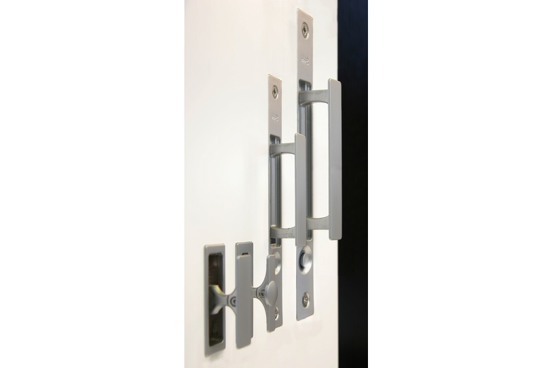 Ideal for large scale sliding wood passage doors.