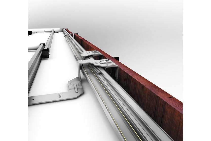 Versatile modular sliding door system for sliding doors weighing up to 70kg