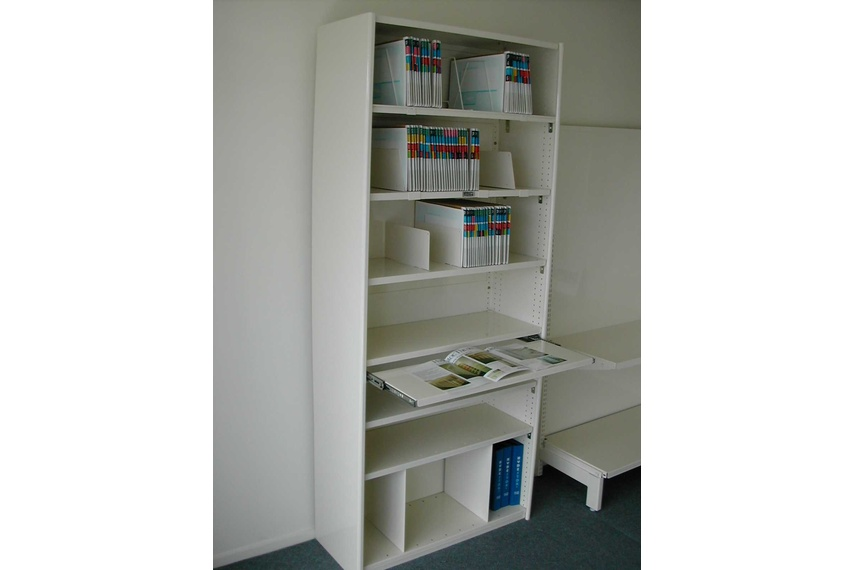 Office shelving.