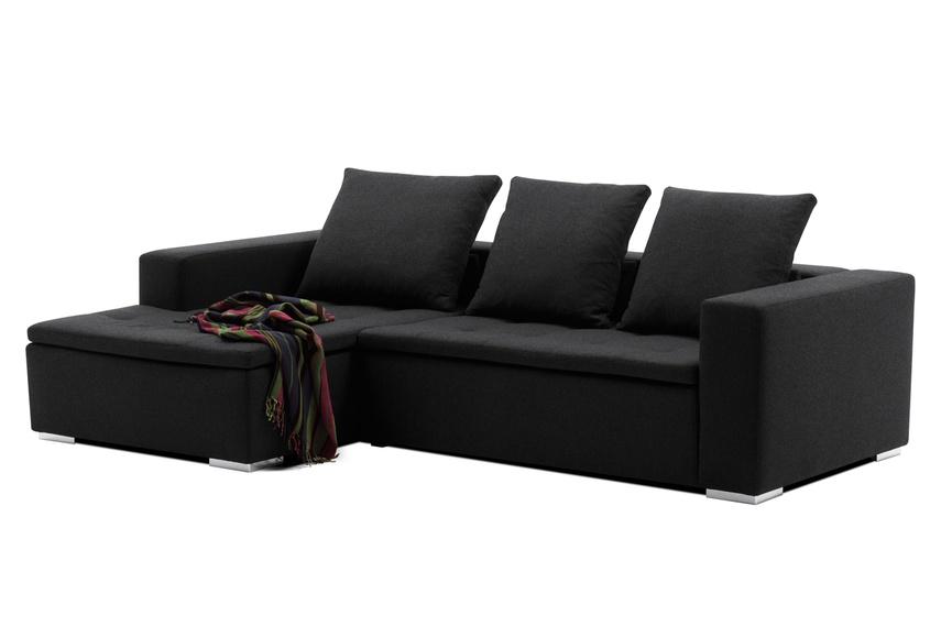 Mezzo modular sofa system shown in dark grey felt