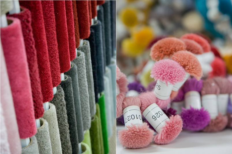 A large range of colours and textures are available