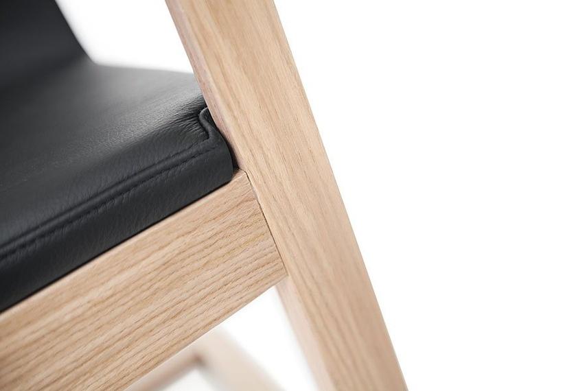 Detail of upholstered Mojo chair.