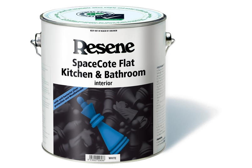 SpaceCote Low Sheen Kitchen and Bathroom is formulated with anti-bacterial silver and MoulDefender