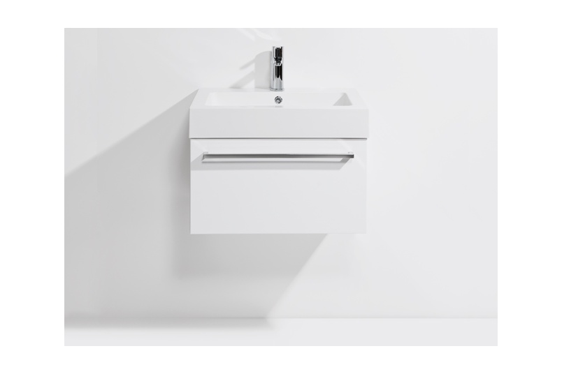 Drawer Wall Unit 600 1 Single Bowl Polymarble Top Soft Close