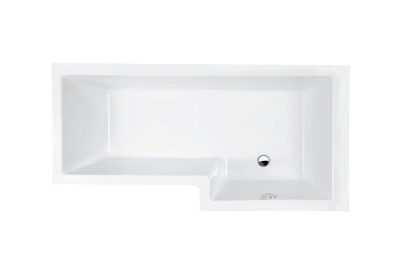 Left hand shower bath 1700mm, includes waste and sealing strip
