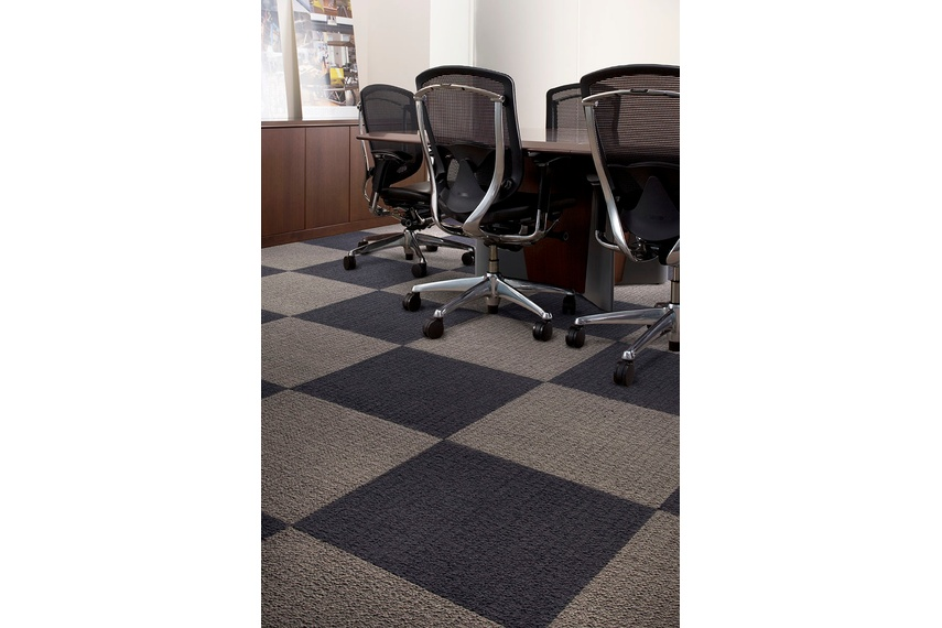 Monochrome carpet tile –Felt and Seal