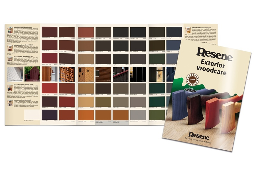 Resene Waterborne Woodsman is available in a range of colours.
