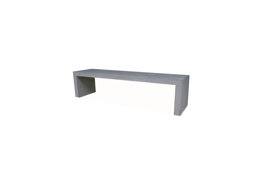 Raw concrete bench