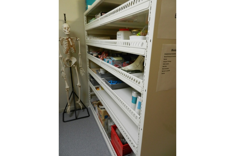 Science resource shelving.