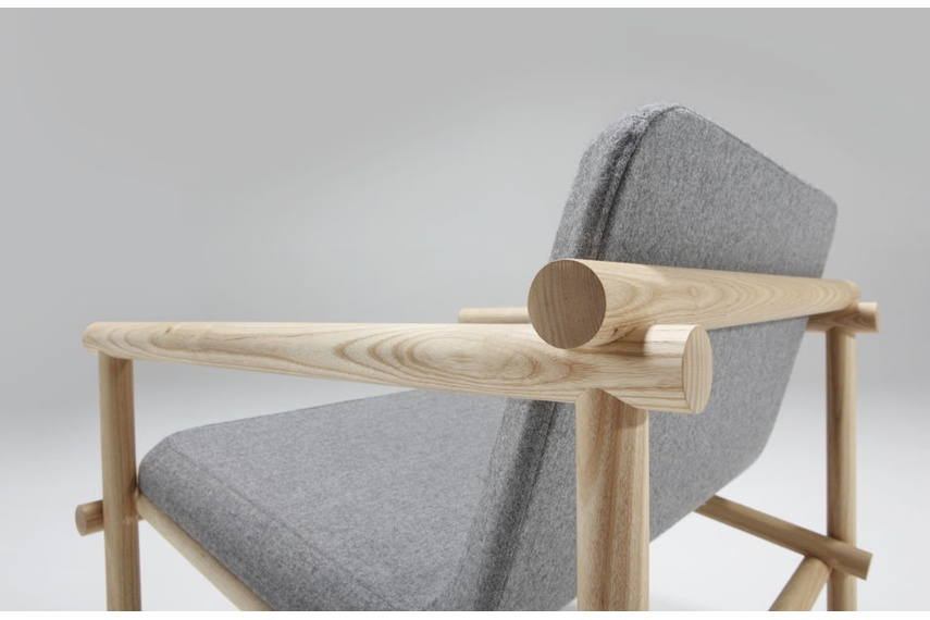 Lumber Easy chair designed by Jamie McLellan for Fletcher Systems