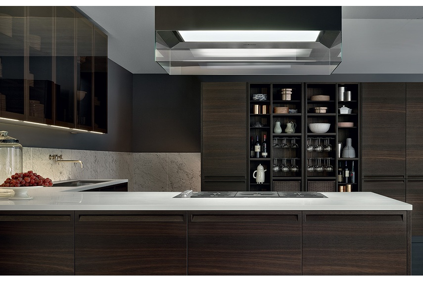 The possibility to combine different materials and finishes gives Minimal the ability to propose extremely original kitchen solutions.