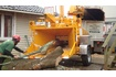 Large Brushwood Chipper in action