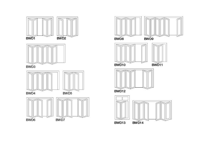 Bifold door configuration