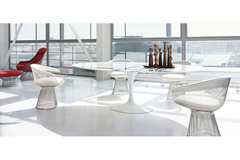 The Sarrinen table in the Pedestal Collection.