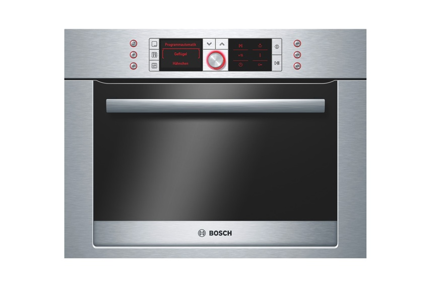 Stainless steel 60cm built-in combination microwave.