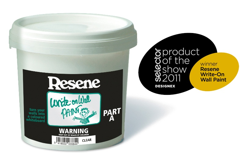 Resene Write-on wall paint — Winner of the Selector Product of the Show 2011 - Designex