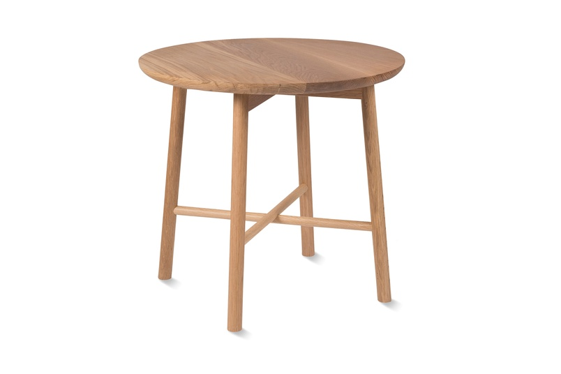 Radial Side Table In Oak