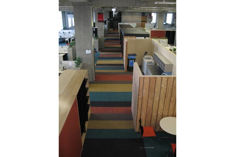 Equilibrium II carpet tile –main corridor showing colour