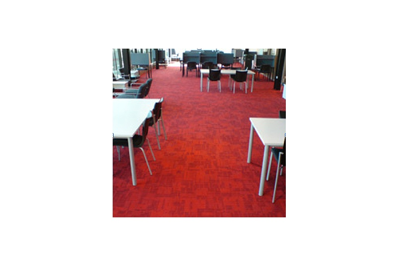 Colour palette features 36 carpet colours ranging from corporate neutrals to saturated tones