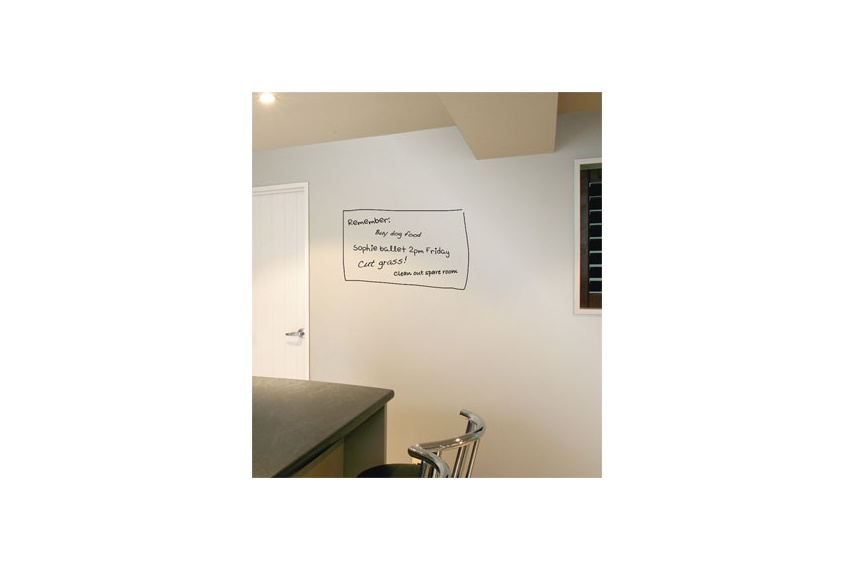 Create a handy whiteboard style finish for reminders and notes in home projects, ideal for kitchen