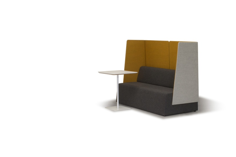 Unique design features including sloping edges and privacy screens.