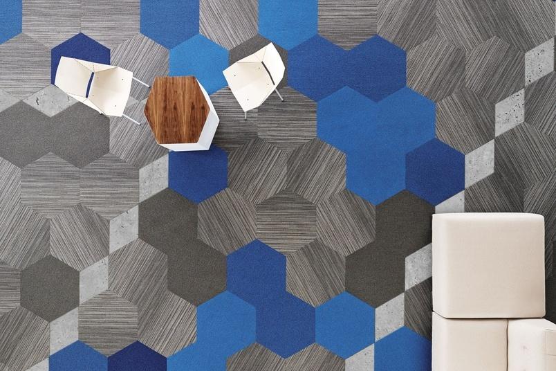 Hexagon Carpet Tile Collection