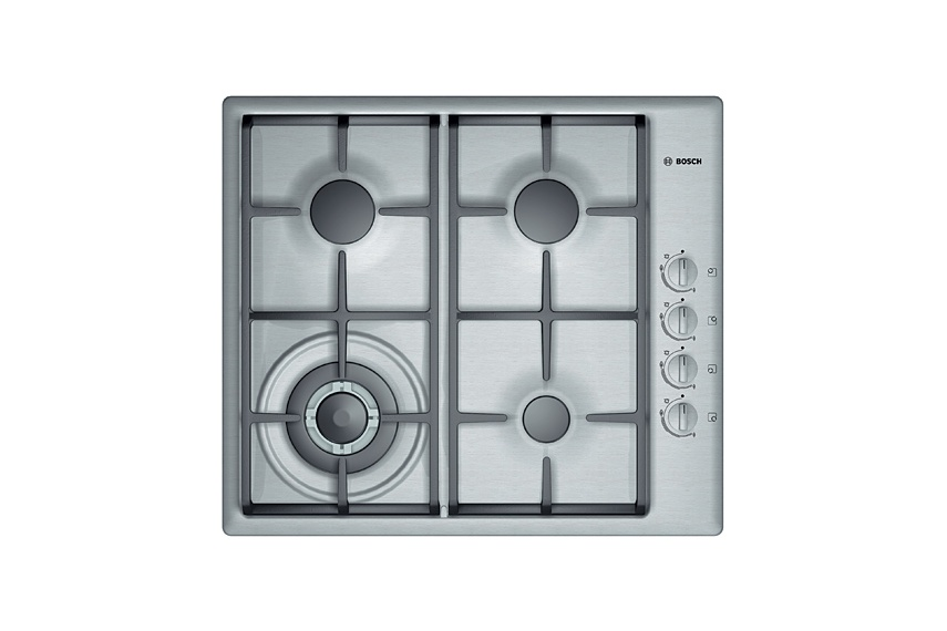 Stainless Steel 60cm gas cooktop.