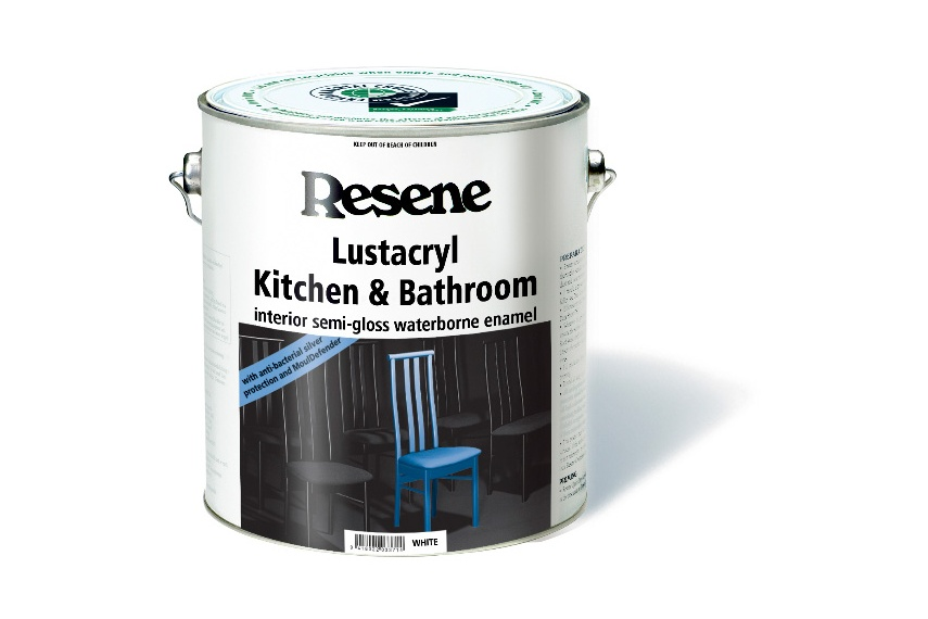 Semi-gloss waterborne enamel paint formulated with anti-bacterial silver and MoulDefender