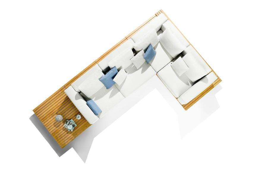 Render of the Vis à Vis seating.
