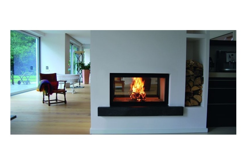 Spartherm Double Sided wood fire.