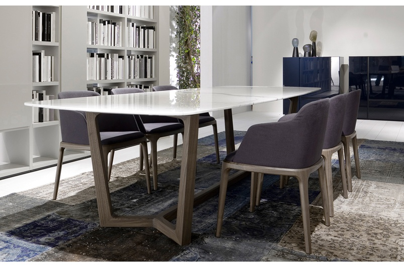 Concorde dining table makes an elegant statement.