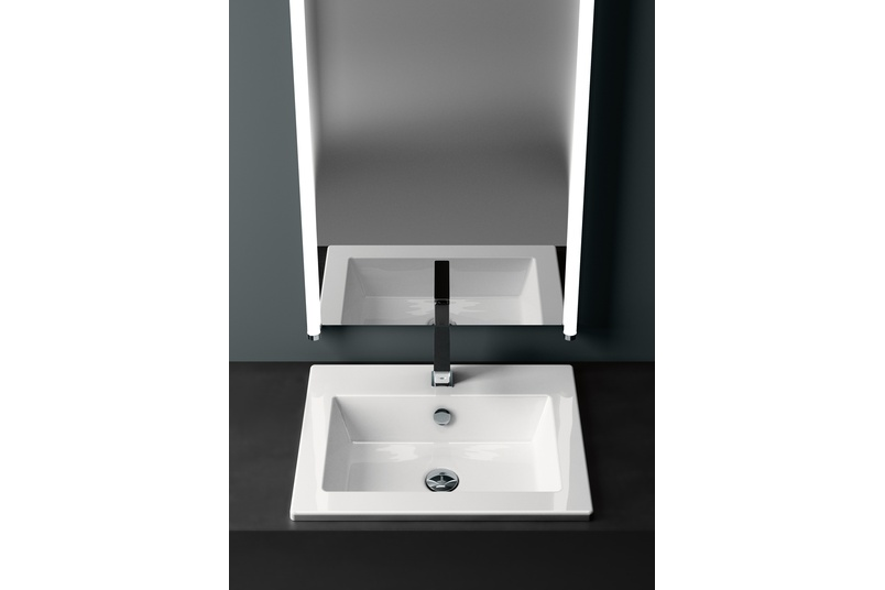 Smooth inset basin