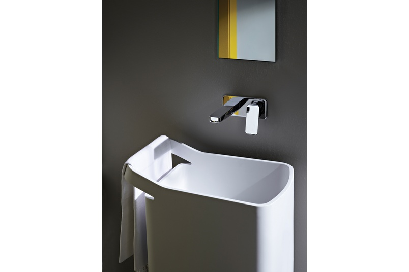 Jingle wall-mounted basin mixer.