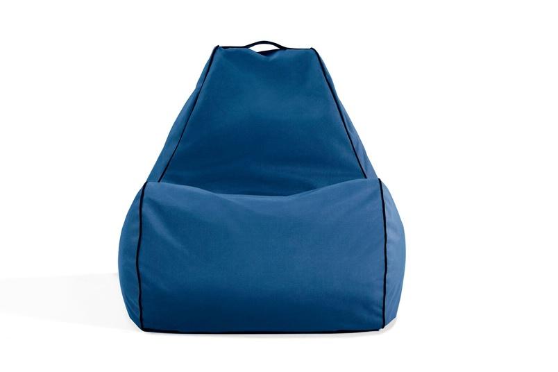 Tulum bean bag chair (outdoor/med blue).