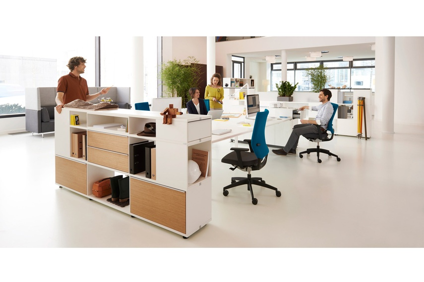 Sedus Terri Tory is a modular storage space system.