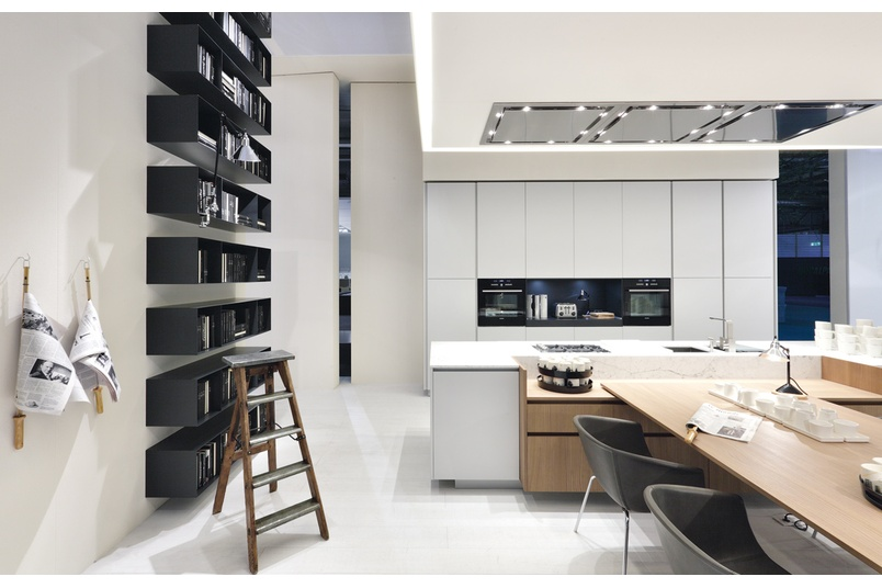 The Alea kitchen integrates seamlessly with adjacent living areas.