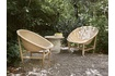 The Basket chair also comes in an outdoor version, made from artificial fibre and teak.
