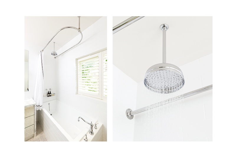 Perrin & Rowe offer shower roses on both ceiling shower arms and wall shower arms